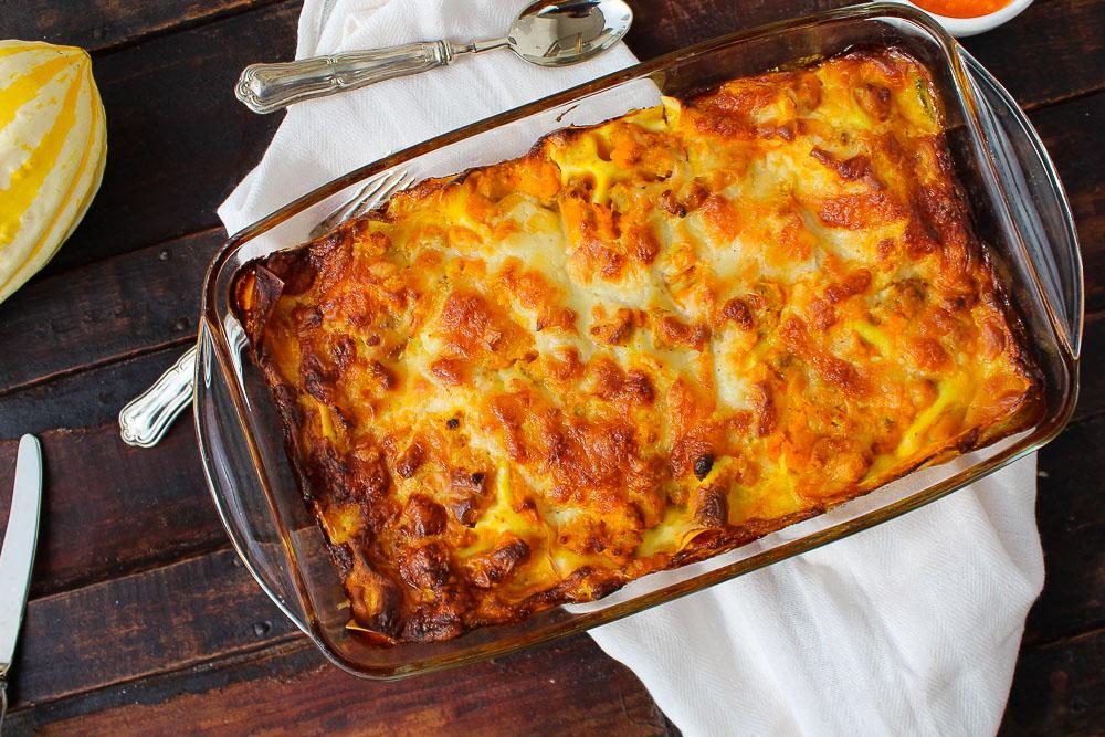 lasagna zucca e salsiccia