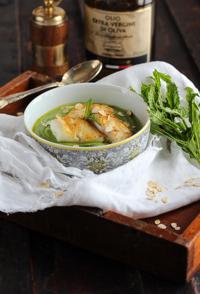 Cremoso Di Zucchine E Filetto Di Pesce Persico Licia Sangermano