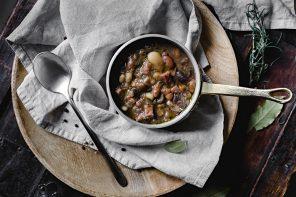 Zuppa di legumi e speck Alto Adige IGP