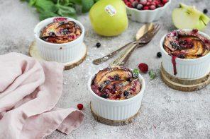 Clafoutis di mele IGP e frutti rossi