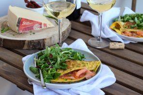Omelette al salmone e Stelvio DOP