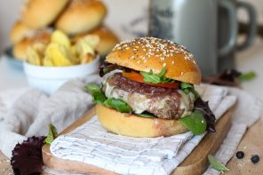 Hamburger con Stelvio DOP e Cipolla caramellata