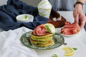 Pancake di zucchine con speck Alto Adige IGP